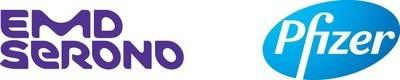 EMD Serono and Pfizer Logo (PRNewsfoto/EMD Serono)
