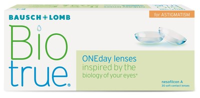 Biotrue ONEday for Astigmatism daily disposable contact lenses