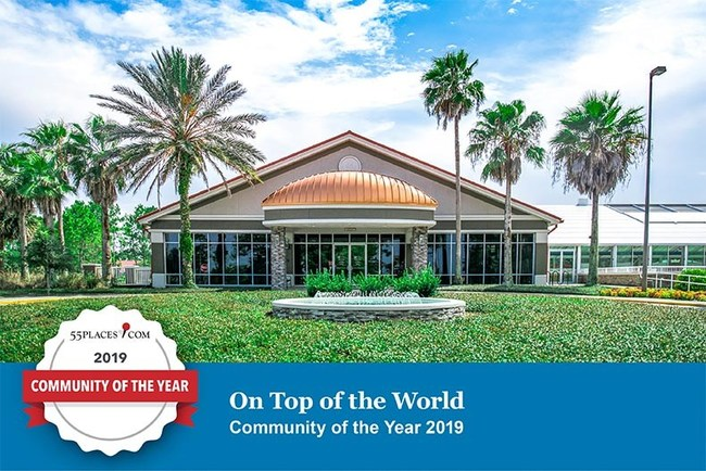 In addition to winning the best community of 2019, On Top of the World has also taken the No. 1 spot on this year's most popular and best-selling lists. To learn more about On Top of the World, visit 55places.com.
