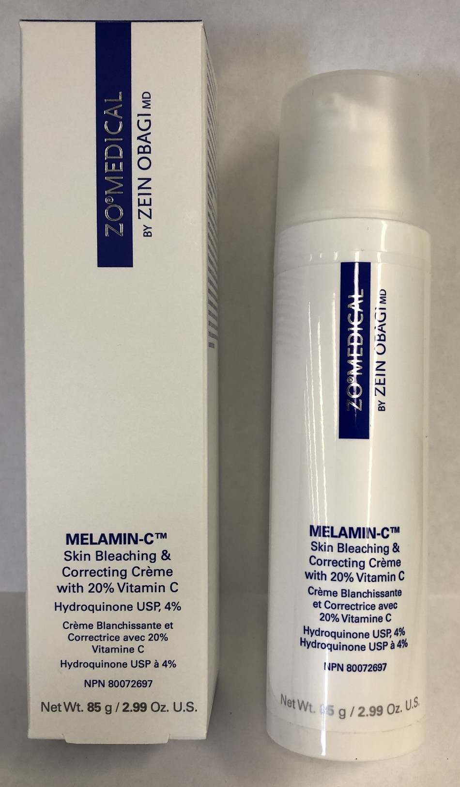 ZO Medical Melamin-C Skin Bleaching & Correcting Crème with 20% vitamin C (CNW Group/Health Canada)