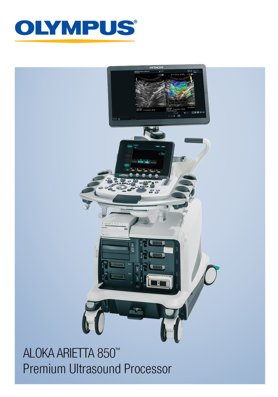 The ARIETTA 850, a premium ultrasound processor, provides endoscopists with a greater depth of information toward improved decision making, with backing by industry-leading service and support.