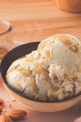 Baskin-Robbins' January Flavor of the Month, Salted Almond Honeycomb, features the floral taste of honey, honeycomb pieces, and a swirl of sweet almond marzipan for the perfect salty and sweet treat.