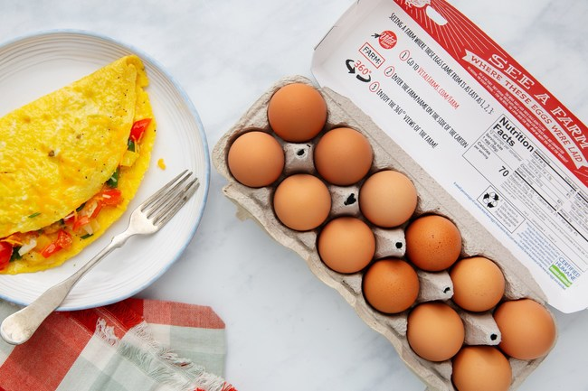 Vital Farms egg cartons featuring farm names can now be found on shelves nationally.