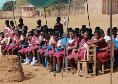 Students of the Girls Model School in Nabdam District, Upper East Region, Ghana.