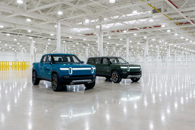 The Rivian R1T and R1S in Normal, Illinois.
