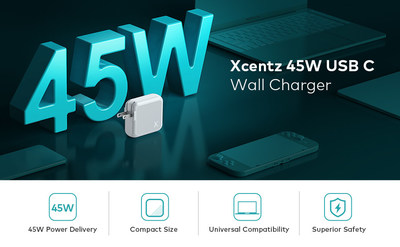 Xcentz Rolls Out AW-31011 Fast Charger That Supports 45W PD Charging Protocol