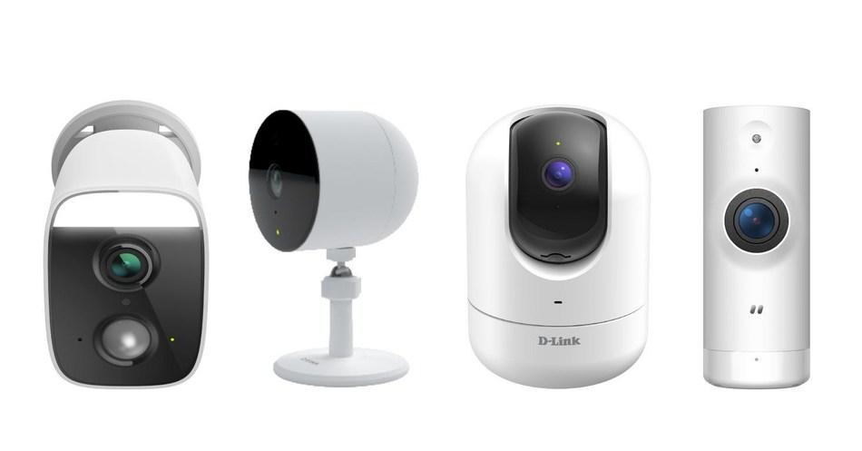 DCS-8630LH/DCS-8627LH, DCS-8302LH, DCS-8526LH, DCS-8000LHV2 (from left to right) (PRNewsfoto/D-Link)