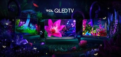 TV's TCL QLED: C715, X915, C815 (da esquerda para a direita)
