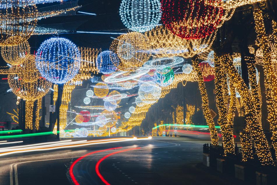 Rustaveli Avenue At Night (Photographs by Davit Tabagari)