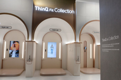 The ThinQ Fit Collection Zone will allow visitors to experience virtual fashion without having to step into a fitting room. LG ThinQ FitTM, an evolution of LG's original Smart Mirror concept, uses 3D cameras to accurately measure the user's body to generate a realistic avatar for virtual fittings.
