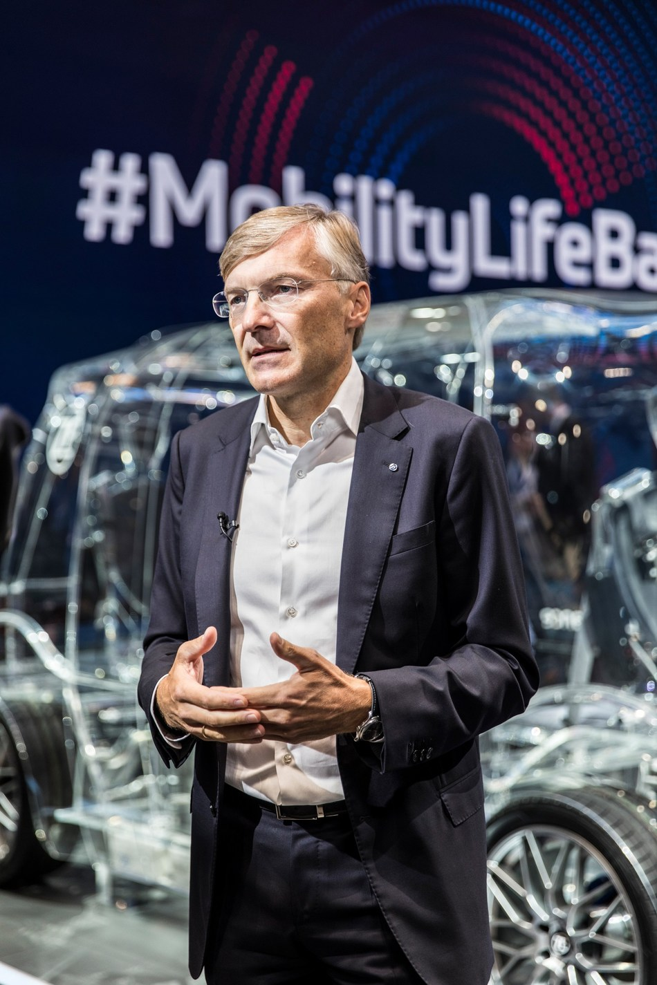 ZF CEO Wolf-Henning Scheider presents at the 2019 Consumer Electronics Show.
