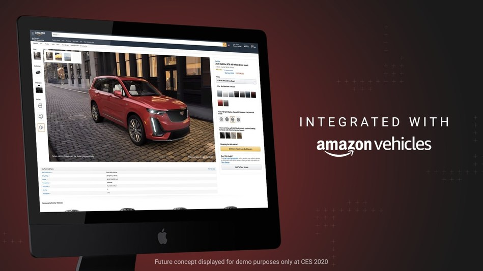 ZeroLight Collaborates with Cadillac and Amazon to Introduce a New Vision for Vehicle Shopping at CES