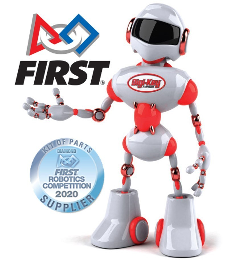Digi-Key Electronics is a Diamond-Level Sponsor of the 2020 FIRST® Robotics Competition and a leading kit of parts supplier for nearly 4,000 participating teams around the world.