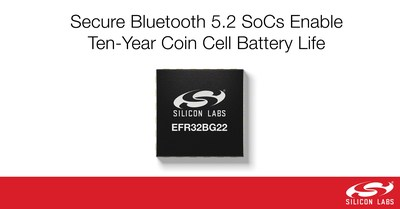 Silicon Labs' new EFR32BG22 SoCs provide an optimized Bluetooth connectivity solution supporting the new Bluetooth 5.2 specification, Bluetooth direction finding and Bluetooth mesh.