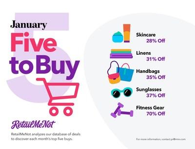 RetailMeNot's 5 Things to Buy in January