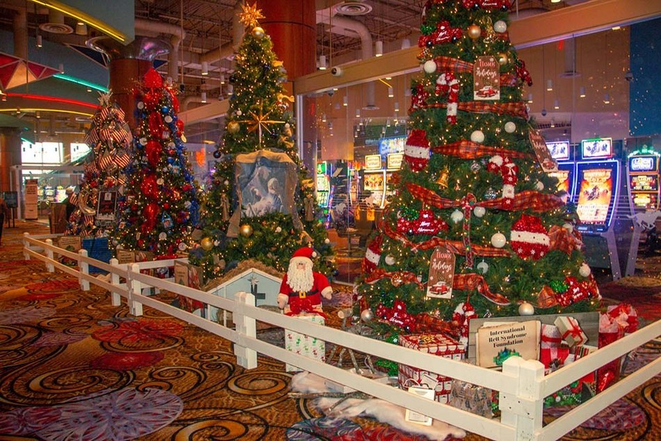 The 2019 Trees of Hope display at Boyd Gaming's Delta Downs Racetrack Casino Hotel in Vinton, La.