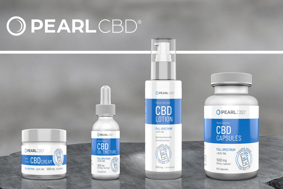 Origin Labs, Inc. Launches New Tech-Focused CBD Product Line, PearlCBD -- Lotion, Cream, Oil Tincture, and Capsules.