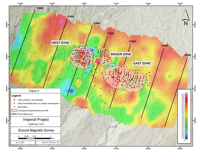 Figure 3 – Induced Polarization Survey Interpretation (CNW Group/Kore Mining)