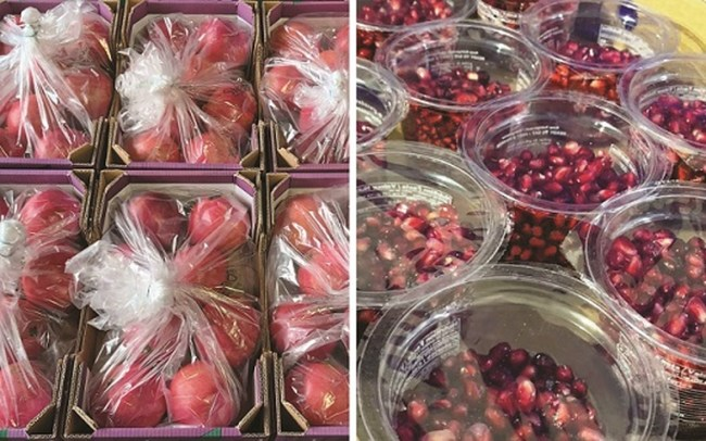 Sustainable packaging extends the pomegranate season