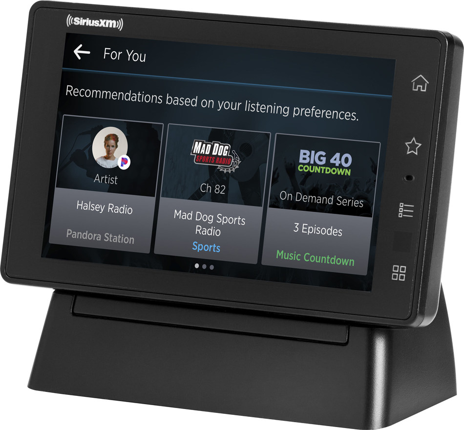 """Using SiriusXM with 360L functionality, SiriusXM Tour delivers personalized """"For You"""" recommendations based on listening history and preferences"""