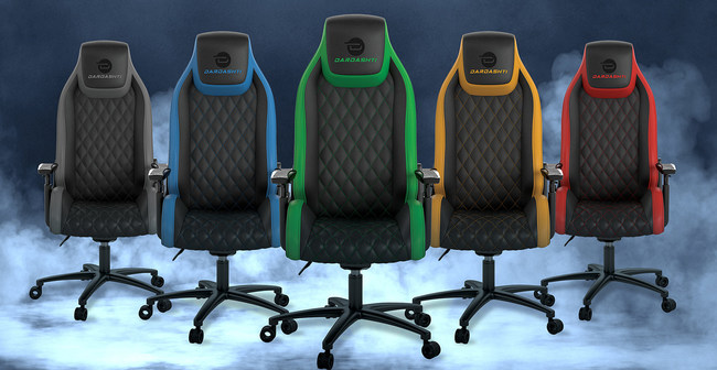 Commercial Grade, Next Gen Dardashti Gaming Chair. Gaming enthusiasts can choose from five accent colors.