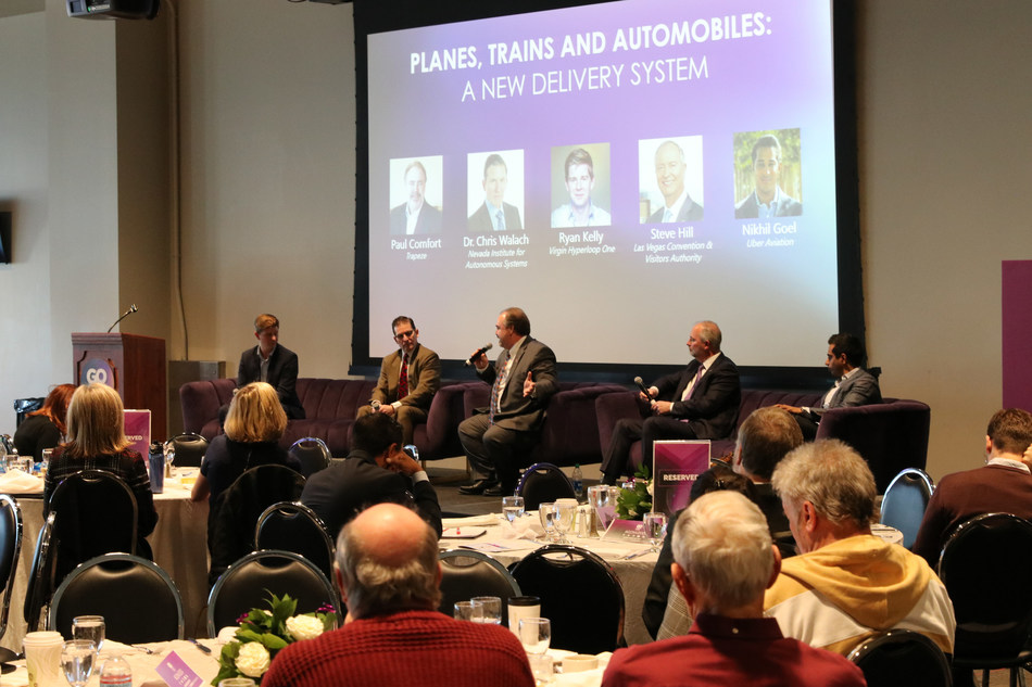 Panel discussion during GO-NV Summit in Las Vegas, hosted by the Regional Transportation Commission of Southern Nevada (RTC) and local partners.