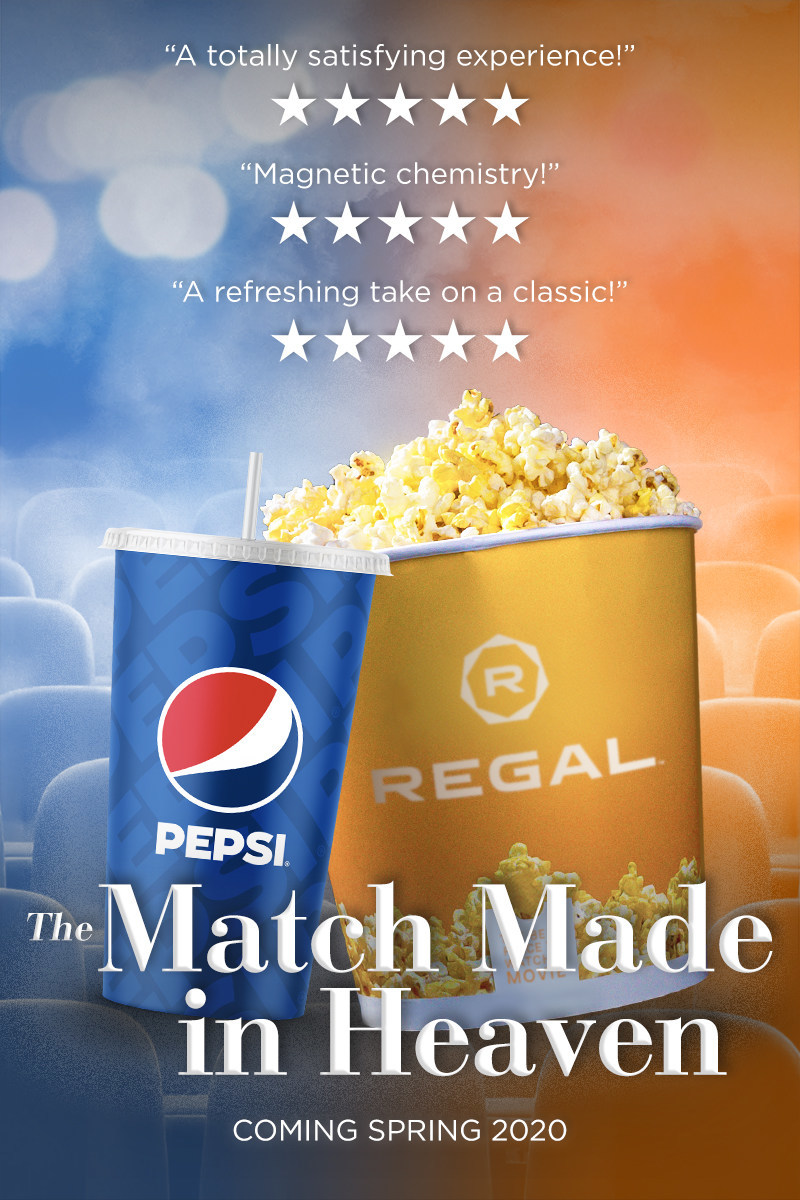 Brought together through their mutual passion for blockbuster entertainment, Regal and Pepsi are partnering to transform the movies with unique beverages and snacks, on-screen entertainment and in-theatre experiences.