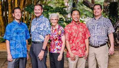 Left to Right: Dexter Kubota, Vice President of Bowers + Kubota Consulting; Brian Bowers, President of Bowers + Kubota Consulting; Cheryl Palesh, Vice President / Director of Engineering, Belt Collins Hawaii; Aaron Akau, President and Chief Executive Officer, Belt Collins Hawaii; and Mike Terry, Immediate Past President, Belt Collins Hawaii.