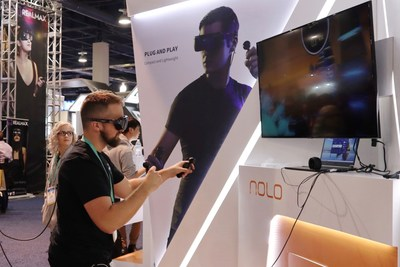 NOLO CV1 Air and HUAWEI VR Glass at NOLO VR Booth