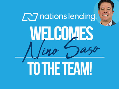 Nations Lending is pleased to welcome Nino Saso as Division Sales Manager