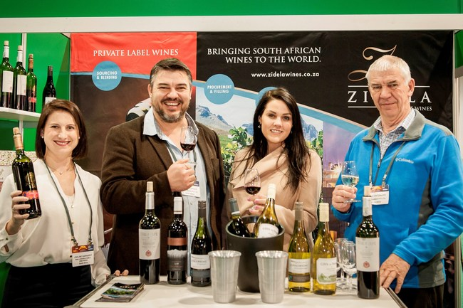 Gesondheid! Zidela Wines of South Africa raise a glass to the American retailers at PLMA's annual trade show.