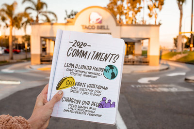 Taco Bell iskickingoff a new decade withaset of bold purpose-ledgoals, including commitments to sustainable packaging and employee benefits.