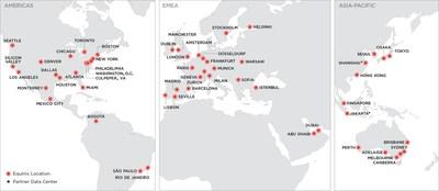 The global footprint of Platform Equinix.