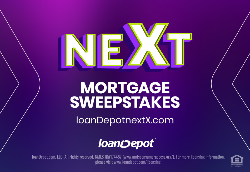 loanDepot today announced it will pay off two homeowners' mortgages as part of a massive $680K 10-Year Anniversary nextX Sweepstakes.