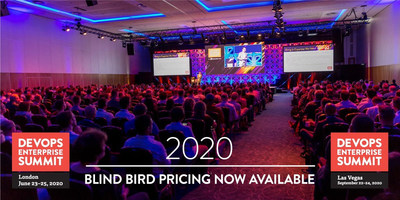 Blind Bird pricing opens for the popular DevOps Enterprise Summit 2020 London and Vegas conferences. Lowest prices of the season are only available for a limited time