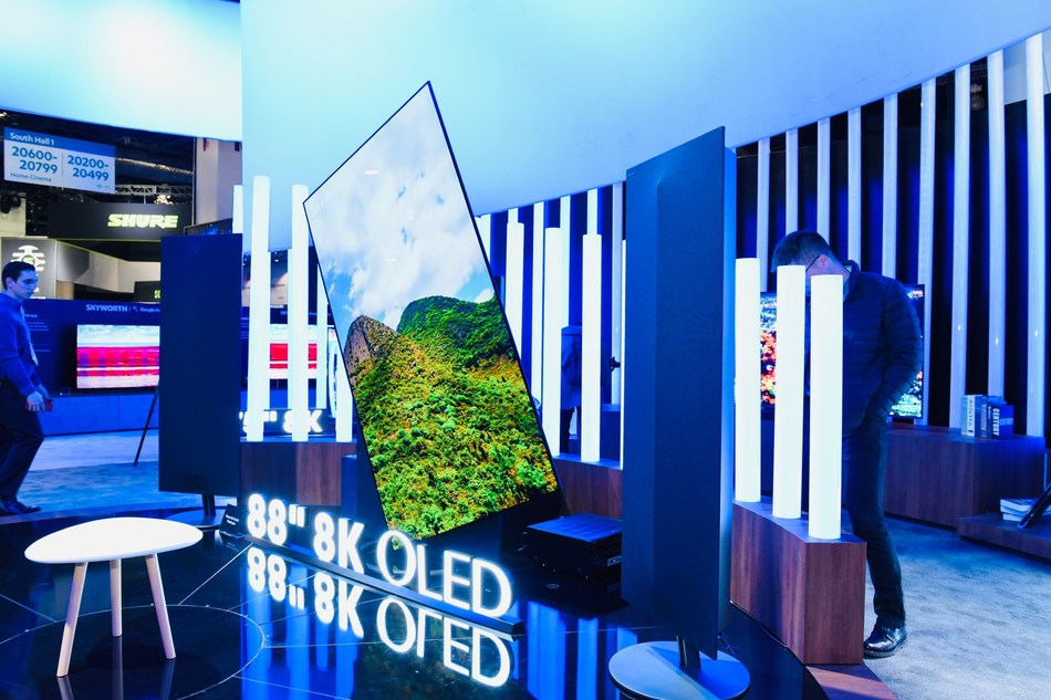 Exhibition area of Skyworth TV