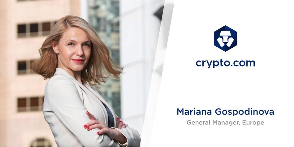 Crypto.com Appoints Mariana Gospodinova as General Manager, Europe (PRNewsfoto/Crypto.com)
