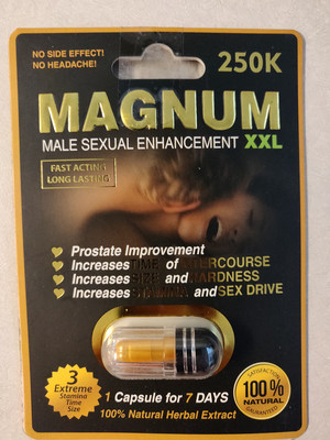 Magnum Male Sexual enhancement XXL (CNW Group/Health Canada)
