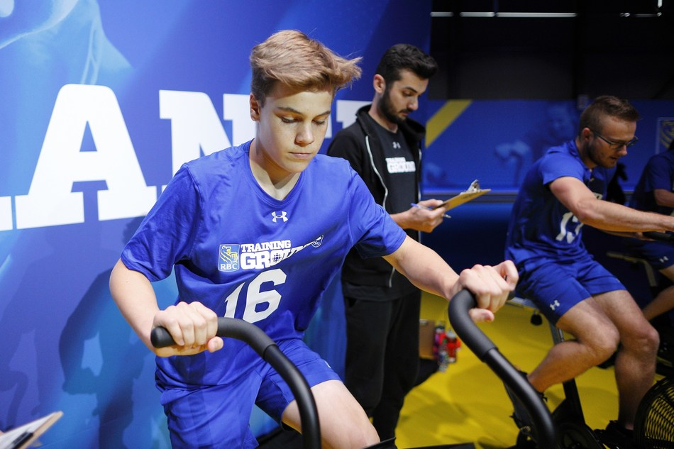Athletes test their endurance at the 2019 RBC Training Ground National Final on September 14, 2019 at the Genesis Centre in Calgary. Photo by Kevin Light. (CNW Group/RBC)