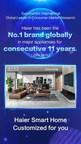 Haier encabeza principales rankings de marcas globales de electrodomésticos de Euromonitor por 11mo año consecutivo