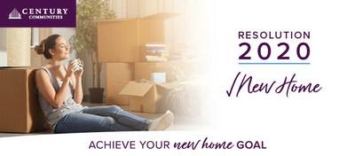 Resolution 2020 Savings Event by Century Communities, a top 10 US homebuilder