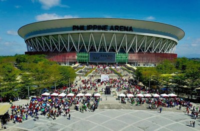 2020 January 5--Hundred of thousands of people in more than 500 venues in 156 countries, six continents simultaneously celebrate the relaunch of KABAYAN KO, KAPATID KO (My Fellowmen, My Brethren) at the Philippine Arena. (HO: FYM Foundation) (CNW Group/Felix Y. Manalo Foundation, Inc.)