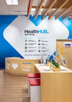 HealthHUB® services and Care Concierge desk inside a CVS Pharmacy store