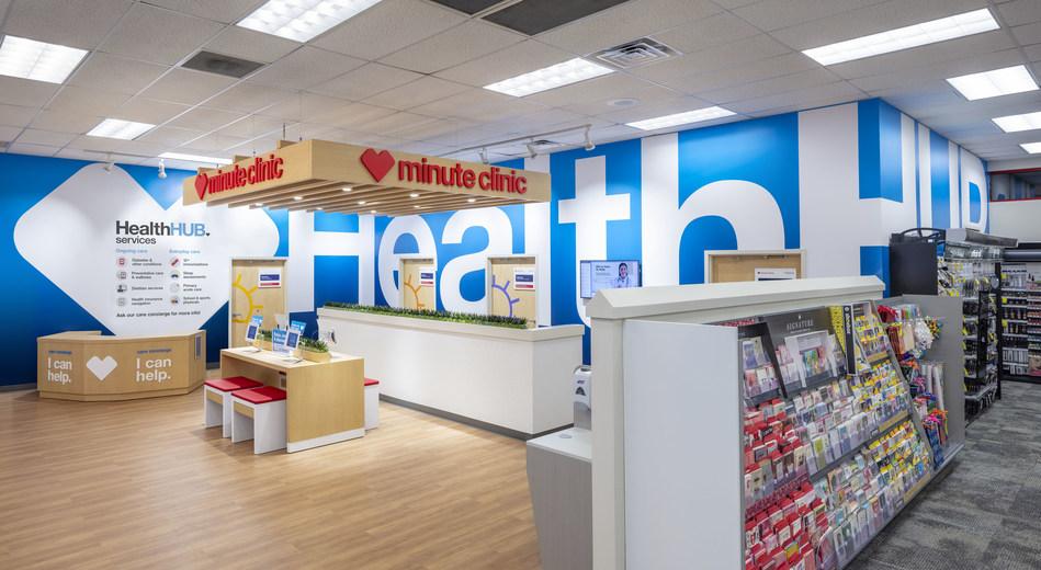 Interior of HealthHUB® location at CVS Pharmacy store