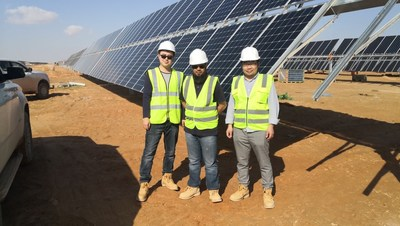Jolywood Supply N type solar panel to the biggest bifacial Solar plant in Middle East