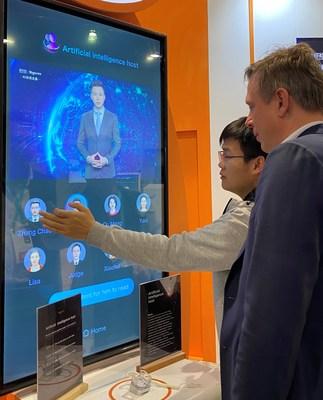 Sogou showcases its AI Vocational Avatar at CES 2020 (PRNewsfoto/Sogou Inc.)