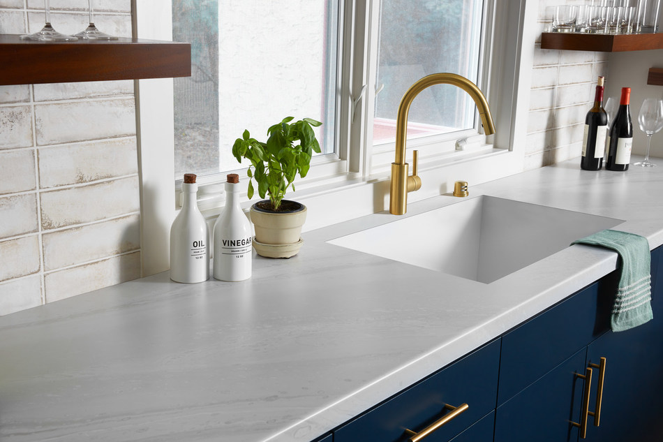 White Painted Marble is one of four handcrafted patterns in the new 2020 Living Impressions Collection by Formica Group.