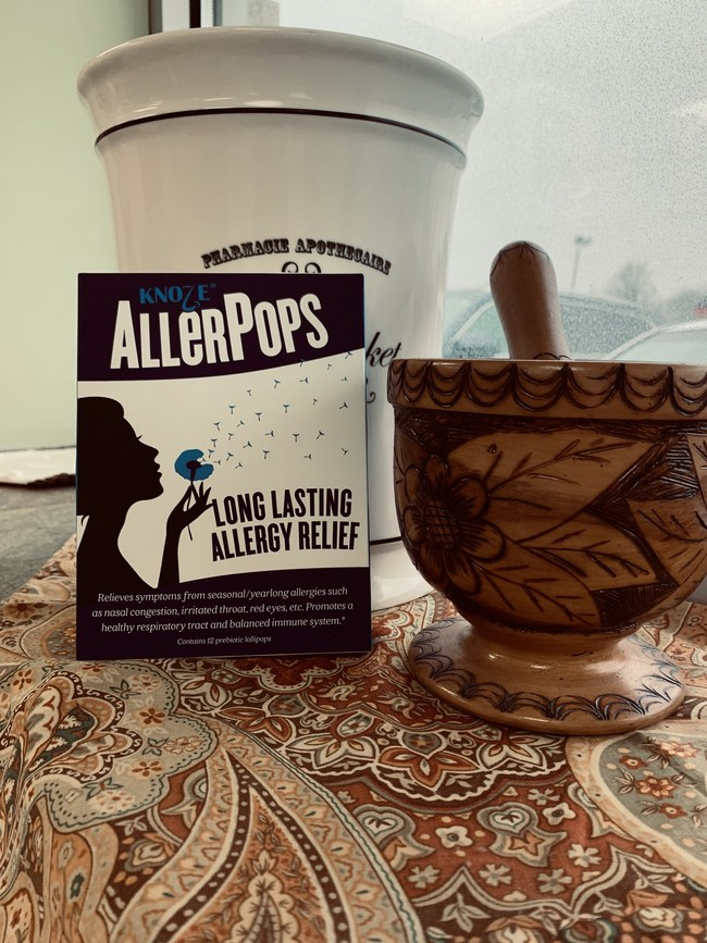 Oakwood Apothecary and Dick's Pharmacy from Sullivan, IL, now Offer AllerPops, a Natural Allergy Remedy.
