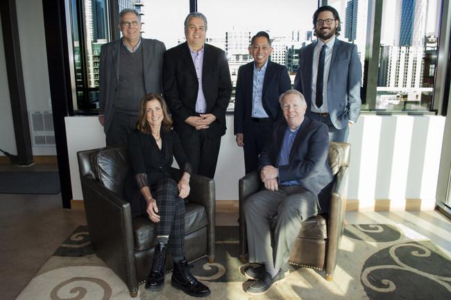 Top: Ed Linn, Tony Pagliuca, Simon Paca, Brandon Simak; Bottom: Deborah Winchester, David McCarty