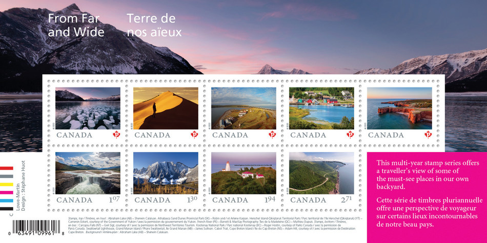 From Far and Wide stamps (CNW Group/Canada Post)